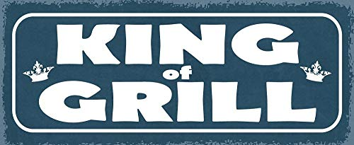 Deko7 blikken bord 27 x 10 cm BBQ - King of Grill