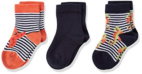Living Crafts Socken, 3er-Pack 15/16, navy/white