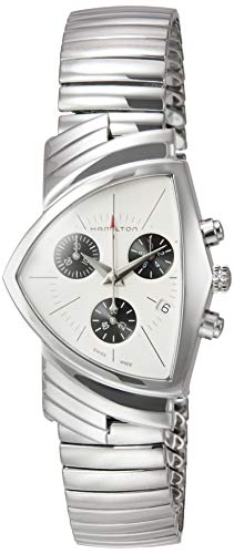 Hamilton H24432151 Ventura Chrono Reloj de Cuarzo Unisex de Acero Inox