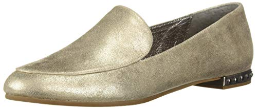 Adrianna Papell Women's Britt Moccasin, Platino Frost Leather, 10 M US