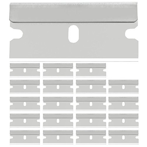 20 Stück Ersatzklingen Glasschaber Ceranfeldschaber Glasfeld Ersatz Klinge 40mm