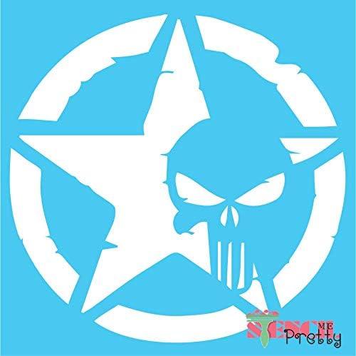 Stencil - The Punisher in Punk Kansas City Mall Best Vin Craft Max 66% OFF DIY Star