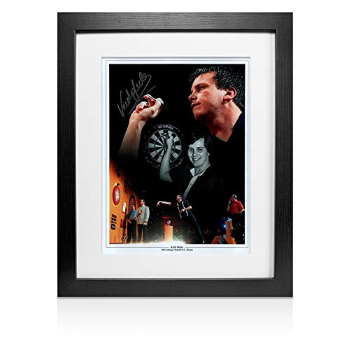 A1SportingMemorabilia.co.uk Framed Keith Deller Signed Photo - 1983 Embassy PDC Winner Montage | Genuine Hand Signed With Certificate | Authentic Autographs | Great Gift
