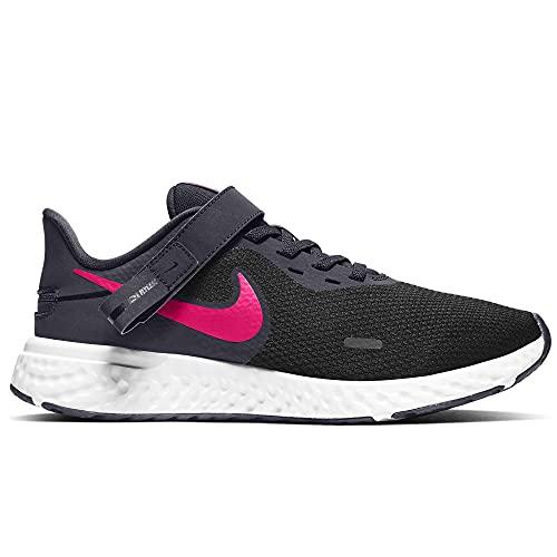 Nike Revolution 5 FlyEase, Zapatillas para Correr Mujer, Negro y Rosa, 39 EU