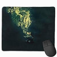 マウスパッド、ステッチエッジ付きマウスパッド、キッド' sファンタジーノンスリップラバーベースコンピューター用マウスパッド