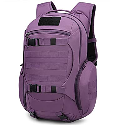 Mardingtop 28L Tactical Backpacks Molle Hiking daypacks for Camping Hiking Military Traveling 28L-Purple