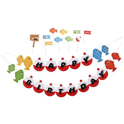 Amosfun 1 Satz Angeln Thema Cake Topper Angeln Bunting Banner Party Kuchen Picks für Baby-Dusche-Geburtstagsfeier Dekoration