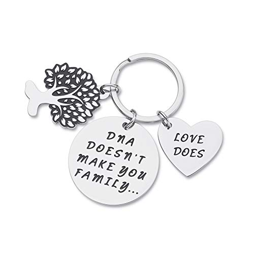 Step Dad Mom Gifts for Stepmother Stepfather Birthday Keychain from...