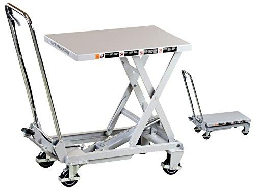 Pro-Lift-Werkzeuge Hubtisch-Wagen 100 kg Hebebühne 780 mm Hubhöhe fahrbarer Scherenwagenheber mobiler Plattformwagen