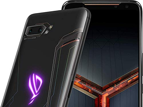 ASUS ROG Phone 2 (ZS660KL) Smartphone 128GB ROM 8GB RAM Snapdragon 855 Plus 6000 mAh NFC Android 9.0 - GSM Only International Version, No Warranty (Black)
