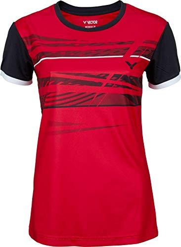 Victor T-Shirt Fonctionnel pour Femme L Rouge