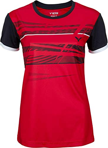 VICTOR Damen T-Shirt Function Badmintonshirt, red, 36