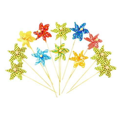 TOYANDONA Juguete de Molino de Viento Molino de Viento Juguete Educativo Jardín Decoración de Césped Fiesta Favorece Regalos para Niños Niñas 12 Piezas Color Aleatorio
