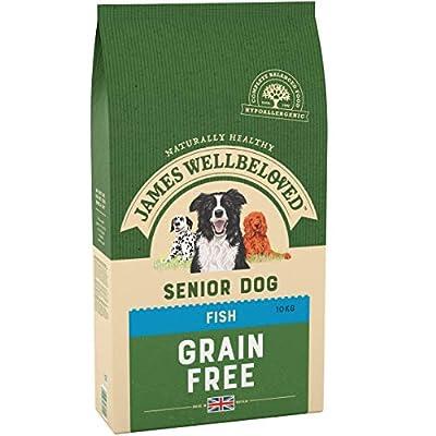 James Wellbeloved Complete Dry Senior Dog Food Fish and Vegetables, 10 kg