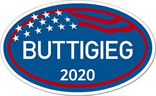 """buttigieg, 2020, marathon, euro, oval, I Make Decals ®, mayor, pete, bumper sticker, 3""""x5"""