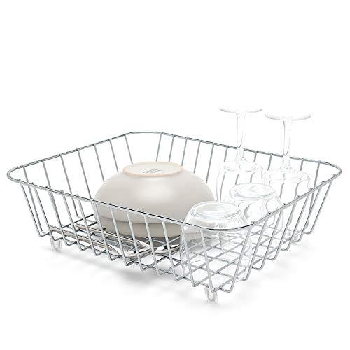 Simplywire - Cesta para fregadero de cocina, escurridor de platos, cromado