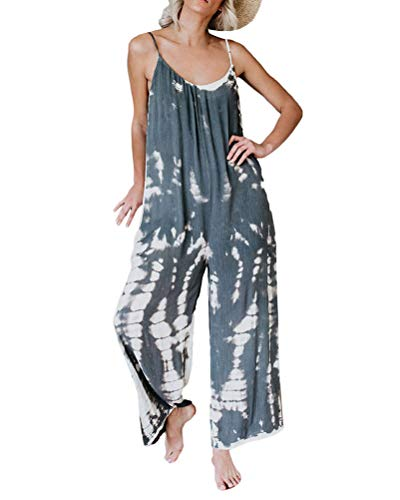 Onsoyours Damen Strap Hosen Taschen Overalls Latzhose Harem Playsuit Spielanzug Jumpsuits Grau 42