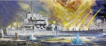 Lindberg 1/164 USS Carronade Bobtail Cruiser Ship Model Kit -  70872