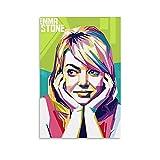 Heiwu Emma Stone Poster, dekoratives Gemälde, Leinwand,