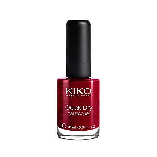 Kiko Make Up Milano Quick Dry Nail Lacquer Nail Polish Nr. 846 Metallic Red Inhalt: 10ml Nagellack für schöne Fingernägel.