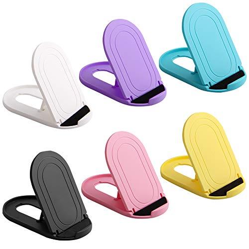 """AFUNTA - Supporto universale per telefono cellulare Ellipse, portatile, regolabile, tascabile, supporto per telefoni e tablet da 4"""" a 12"""", colori assortiti, 6 pezzi"""