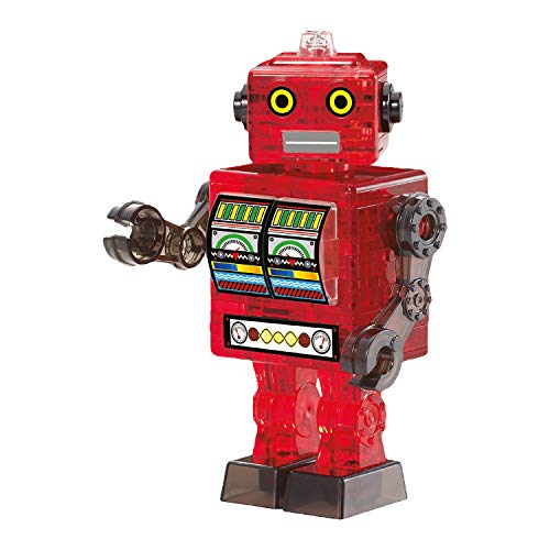 HCM Kinzel Crystal Puzzle 59166 - Roboter, 3D-Puzzle, rot