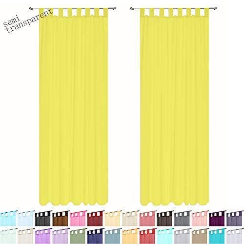1 par de ranura Ojal Top Plain Lucy Voile Cortina Panel Lavable-Net /& Voile NUEVO