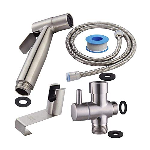 YYONGAO Toilet Hose Bidet Sprayer Toilet Sprayer Kit Best Personal Sanitary Shower Set - Toilet Companion Toilet Washer Accessories Toilet seat Spray Gun Set Bathroom Flush Bidet