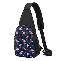 斜めがけ メンズVintage Flamingo チェストバッグ メンズ おしゃれ 軽量撥水 大容量 iPad mini収納可能 多機能レジャーバックパック 旅行 通勤 通学