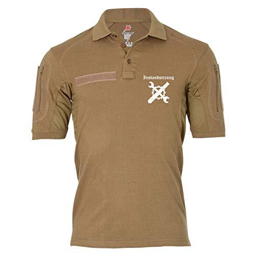 Copytec Tactical Poloshirt Alfa - Instandsetzung Inst Bundeswehr BW Militär #19394, Größe:XL, Farbe:Sand