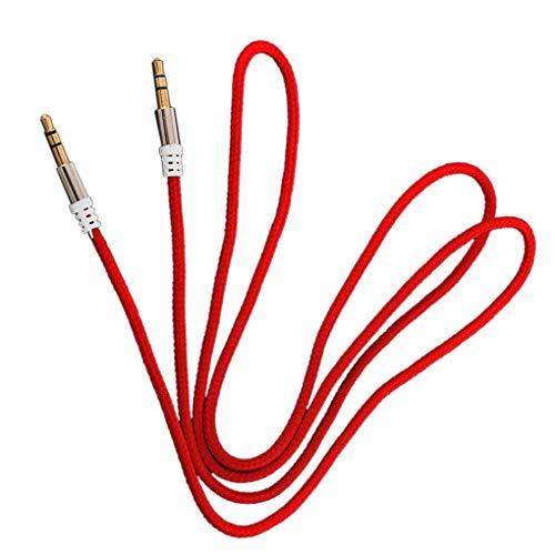 teng hong hui 1m de Nylon o de Jack Cable del Altavoz 3,5 mm Cable Aux a 3.5mm Aux Wire Line Macho a Macho de Coches para Auriculares Altavoz Cable Aux