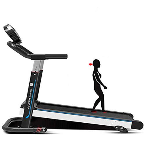 Mechanische loopband goedkope fitnessmachine Stalen kolom met hoge dichtheid Koeienhuid textuur Tactiele armleuning (Functie voor achteruit lopen),Black