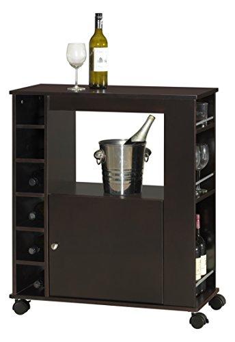 Baxton Studio Ontario - Mueble de madera con barra seca moderna y contemporánea, color marrón oscuro