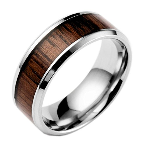 Clearance Rings,Women Fashion Luxury Inlaid Teak Titanium Rings Engagement Wedding Rings Jewelry Gift by ZYooh (A, 8)
