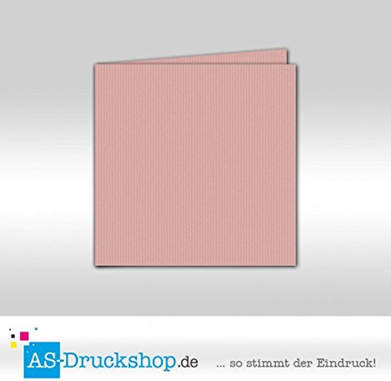 Faltkarte Doppelkarte - Rosa 100 Stück Quadratisch 157 x 157 mm B0794Y9JL9   Mittel Preis