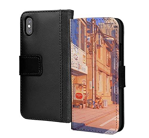 Japan 90S Retro High Street Portefeuille en cuir PU avec porte-cartes
