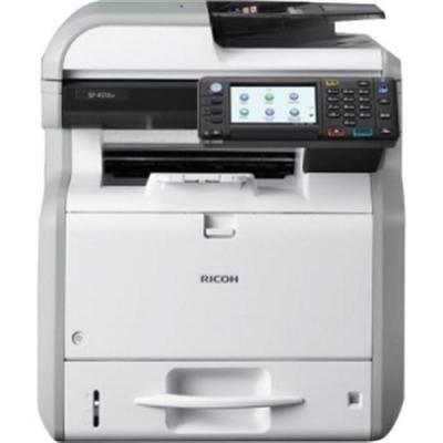 Ricoh Aficio SP 4510SF LED Multifunction Printer - Monochrome - Plain Paper Print - Desktop - Copier/Fax/Printer/Scanner - 42 ppm Mono Print - 1200 x 1200 dpi Print - 42 cpm Mono Copy - Touchscreen LCD - 600 dpi Optical Scan - Automatic Duplex Print - 600