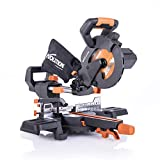 Evolution Power Tools R185SMS+ 7-1/4' Multi-Material Compound Sliding Miter Saw...