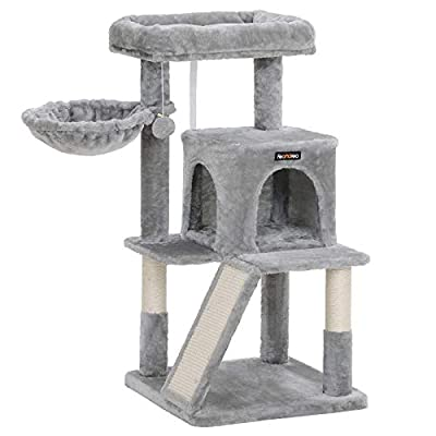 FEANDREA Cat Tree with Sisal-Covered Scratching Posts UPCT51W