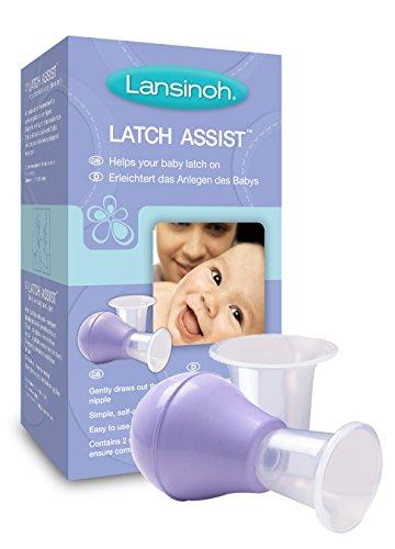 Lansinoh Latch Assist - zachte tepelvorm - vergemakkelijkt het aanbrengen van de baby - incl. trechter in twee maten - BPA-vrij