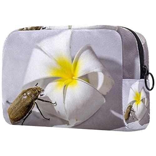 Neceser Neceser Cosméticos Bolsa de Viaje con Cremallera Bolsa de Embalaje Pequeña Bolsa de Cosméticos para Mujeres y Hombres (Estilo Multicolor Escarabajo