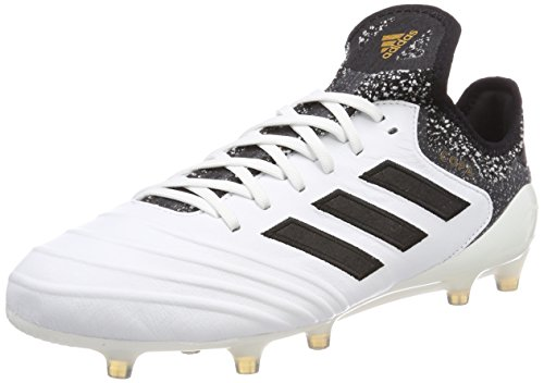adidas adidas Herren Copa 18.1 FG Fußballschuhe, Weiß (Footwear White/Core Black/Tactile Gold Metallic), 40 2/3 EU