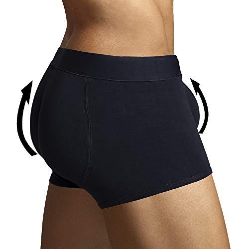 ARIUS Calzoncillo Boxer con Relleno Trasero y Relleno Delantero para Aumentar el Volumen y tamaño de glúteos y Dar Volumen y Forma a los atributos Masculinos - Men's Shapewear (Grande)