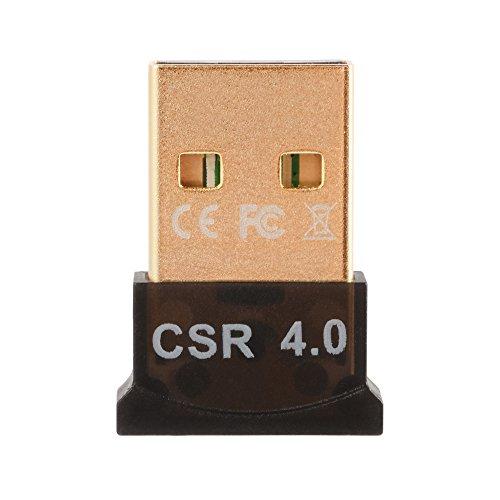 XCSOURCE Bluetooth 4.0 USB Dongle Adaptador CSR 4.0 Receptor inalámbrico Bluetooth para PC Windows 10/8/7 / XP/Vista AC827