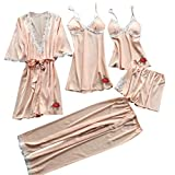 IILOOK Kurz Pyjama Set Nachthemd Negligee Set Babydoll Lingerie mit Shorts