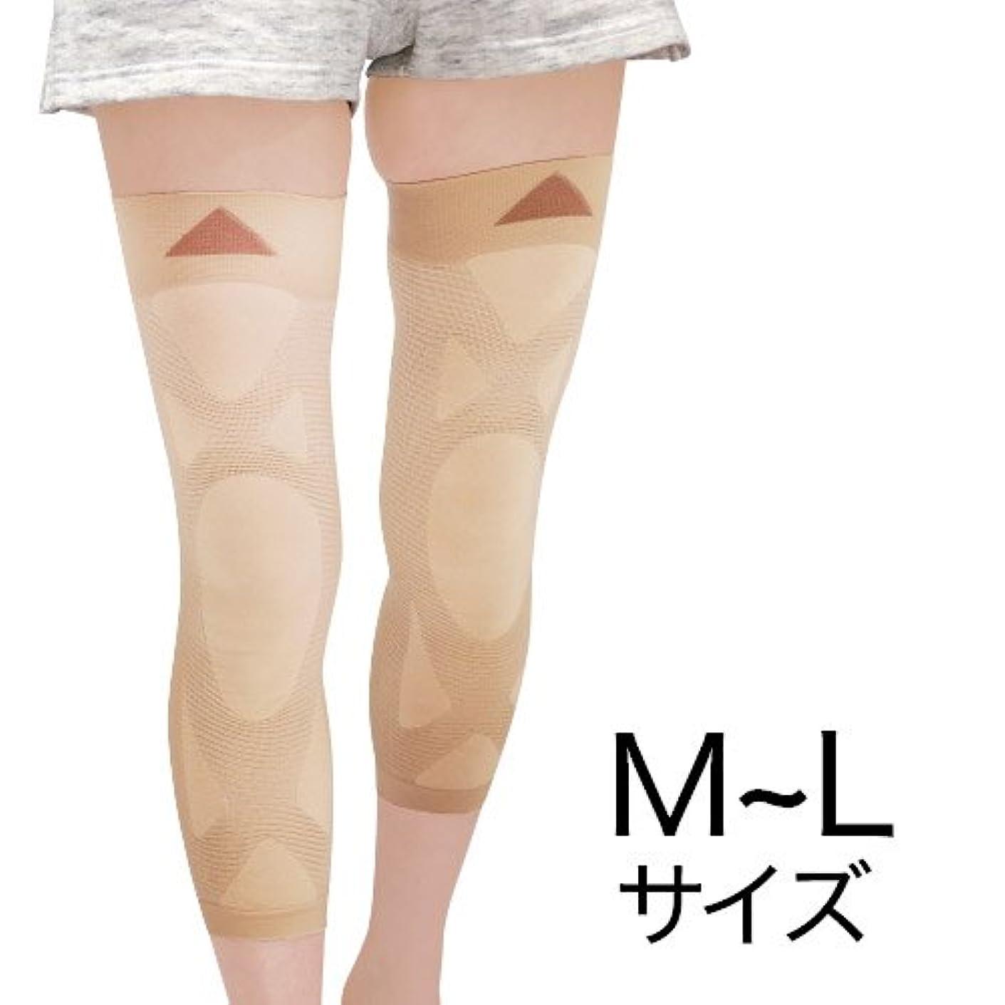 くるみ塩破滅的なナチュラルガーデン 膝楽サポーター M~L(左右共通2枚組)