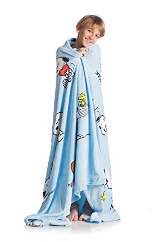 Kanguru Snoopy Decke, Schottenstoff, blau