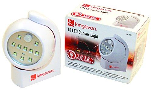 Kingavon 10 LED sensor de luz, Blanco