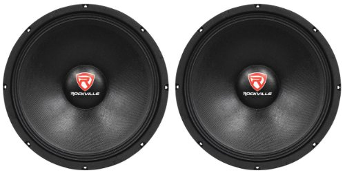 "(2) New Rockville RVP15W8 2000 Watt 15"" Pro Subwoofers 8 Ohm Raw Sub Woofers"