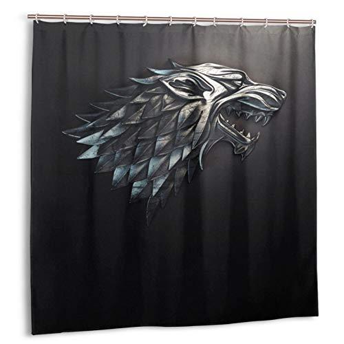 Juego tronos cortina de ducha impermeable decoración del baño del hogar con 12 ganchos poliéster lavable 72x72 en